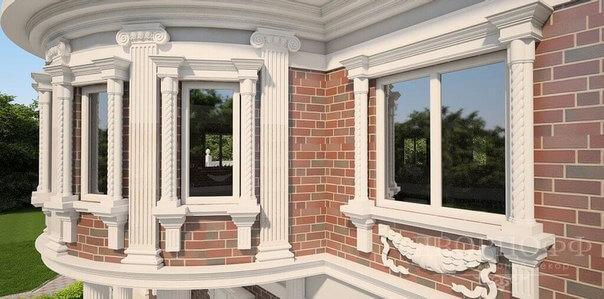 Достоинства фасадных колонн из пенопласта