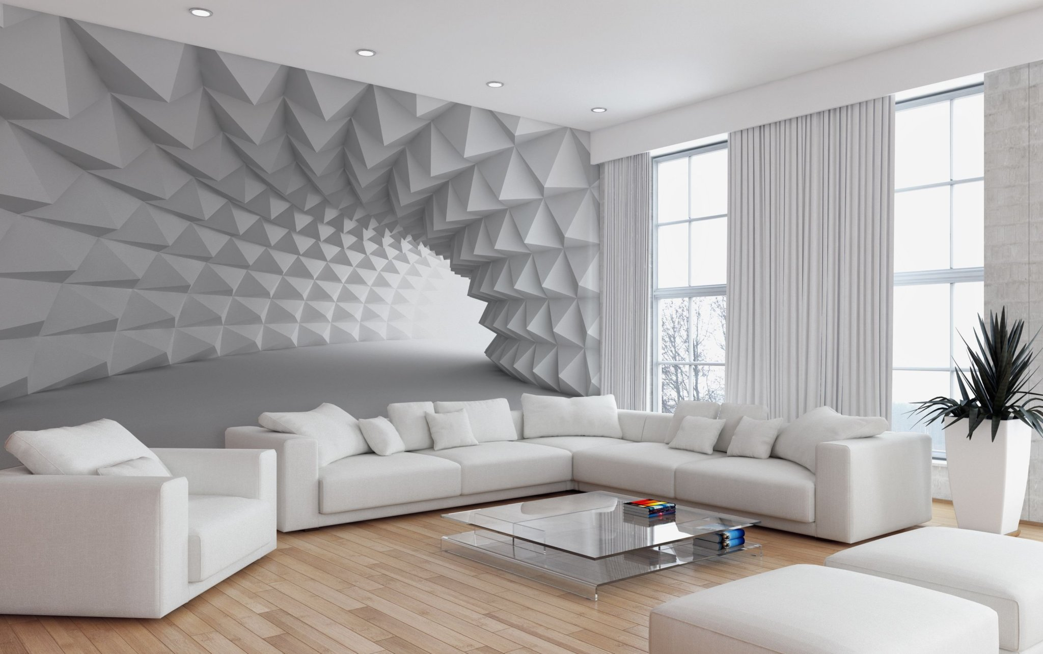 3D обои-акцент в вашей квартире
